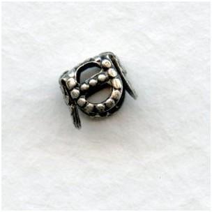 Square Filigree Bead Caps 5mm Oxidized Silver (24)