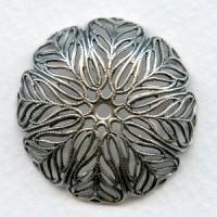Fantastic Bowl Shaped Round Filigrees Oxidized Silver