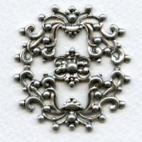 Openwork Stamping Frill Oxidized Silver 44mm