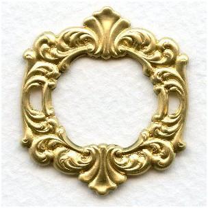 Rococo Style Fancy Framework Raw Brass