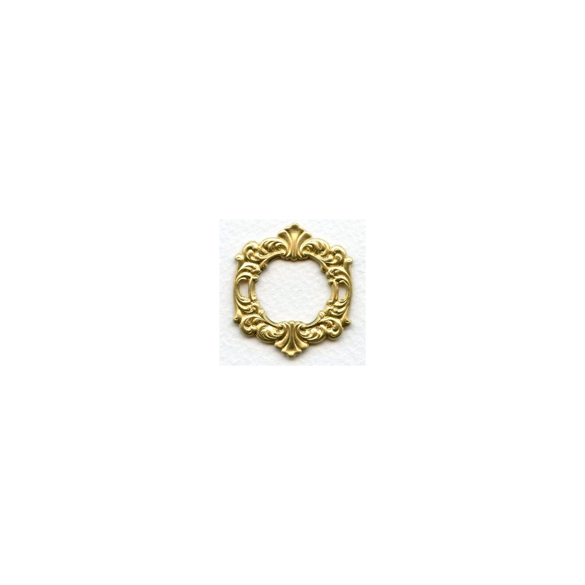 Rococo style fancy framework raw brass - Serenade ivry ...