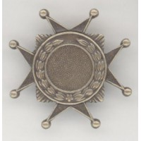 ^Medallion Crest 10mm Setting Oxidized Brass (3)