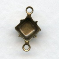 Square 5mm Setting Connectors Oxidized Brass