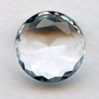 Crystal Glass Round Unfoiled Jewelry Stone 18mm