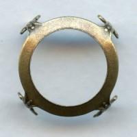 Open Back Turtle Settings 18mm Oxidized Brass (6)