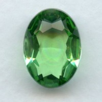 Peridot Glass Oval Unfoiled Stone 18x13mm