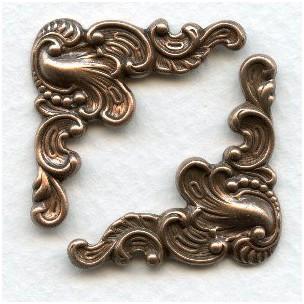 Fancy Corner Embellishments Oxidized Copper (6)