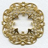 Openwork Detailed Filigree Frame Raw Brass