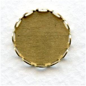 Lace Edge Settings 15mm Raw Brass (12)