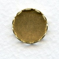 Lace Edge Settings 13mm Raw Brass
