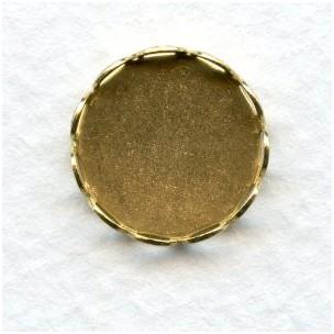 Lace Edge Settings 13mm Raw Brass (12)