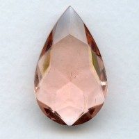 Rosaline Glass Pear Unfoiled Stone 32x20mm (1)