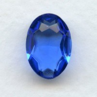 Sapphire Glass Oval Jewelry Stones 14x10mm