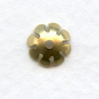 Smooth Petals Bead Caps 8mm Raw Brass