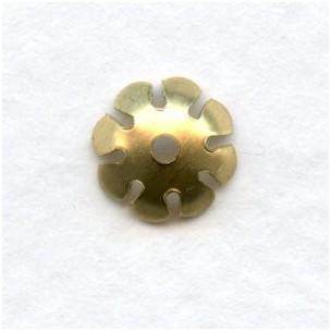 Smooth Petals Bead Caps 8mm Raw Brass