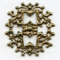Openwork Stamping Frill Oxidized Brass 44mm