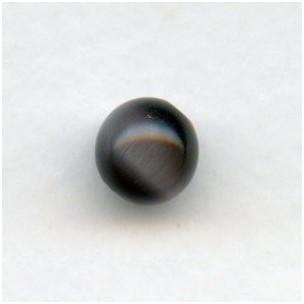 ^Synthetic Cat Eye Beads Dark Gray 8mm