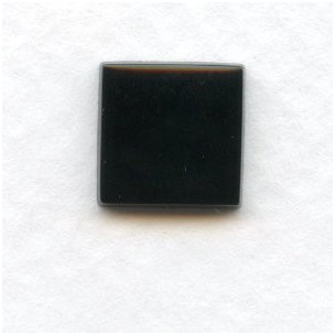 Jet Glass Tiles Square Buff-Top 8mm