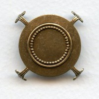 Turtle Style Settings for 30mm Stones Oxidized Brass (3)