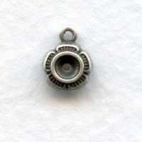 Settings To Hold A Rhinestone Oxidized Silver (12)