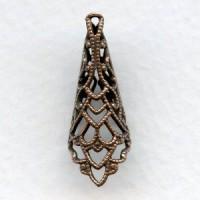 Filigree Cone 26mm Oxidized Copper