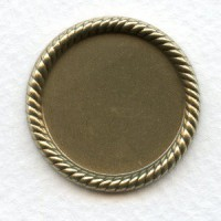 Rope Edge Setting Bases 25mm Oxidized Brass