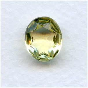 Jonquil Glass Oval Unfoiled Jewelry Stones 12x10mm
