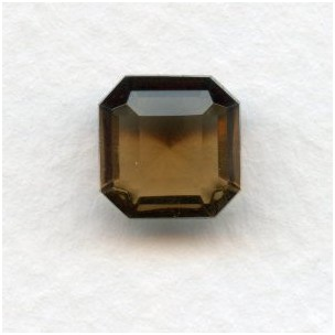 Smoked Topaz Glass Square Octagon Jewelry Stones 10mm