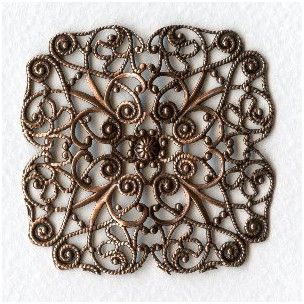 ^Ornate 51mm Filigree Oxidized Copper (1)