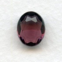 Amethyst Unfoiled Glass Jewelry Stones 10x8mm