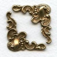 Fancy Corner Embellishments Oxidized Brass (6)