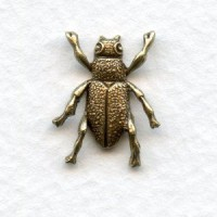 Tiny Bugs Solid Backs Oxidized Brass (4)