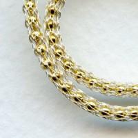 Silver over Gold Chain SilverSilk