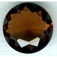 Smoked Topaz Round Glass Jewelry Stone 18mm