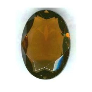 ^Smoked Topaz Glass Unfoiled Jewelry Stones 12x10mm