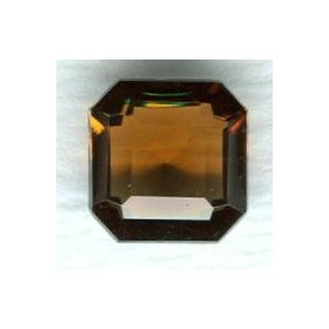 ^Smoked Topaz Glass Square Octagon Jewelry Stones 8mm