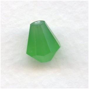 Opal Green Bell Shape Faceted Glass Beads 10x9mm
