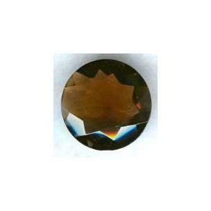 ^Smoked Topaz Glass Round 25mm Unfoiled Jewelry Stone (1)