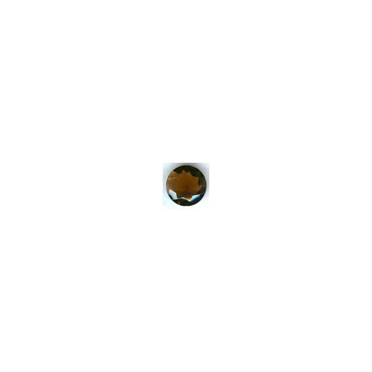 Smoked Topaz Glass Round Jewelry Stone 25mm