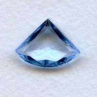 Light Sapphire Glass Fan Shape Stones 18x13mm