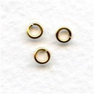 Raw Brass 20 Gauge Jump Rings 4mm