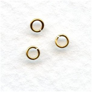 Tiny Jump Rings Round 3mm Raw Brass (200)