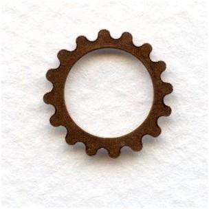 Steampunk Cogs Oxidized Copper 16mm (12)
