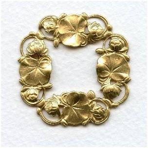 Floral Framework Stampings 41mm Raw Brass (3)