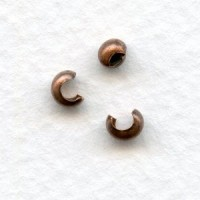 Crimp or Knot Covers Make a 3mm Bead Oxidized Copper