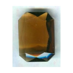 Smoked Topaz Glass Octagon Jewelry Stone 25x18mm