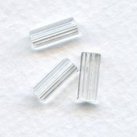 Crystal Czech Glass Hex Tube Beads 10x4mm