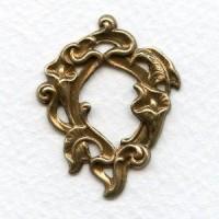 Calla Lilies Small Framework Oxidized Brass 36mm (3)