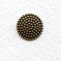 Nailhead Texture 11mm Oxidized Brass Domes
