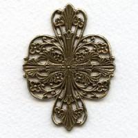 Splendid Filigree Wrap Oxidized Brass 57mm (1)